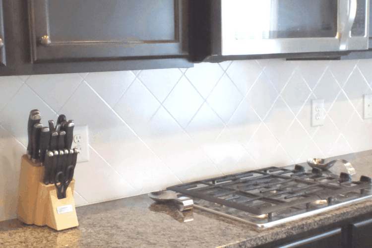 Painting Tiled Kitchen Backsplash A
