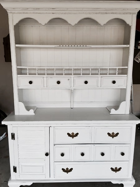 farmhouse china cabinet makeover - after picture
