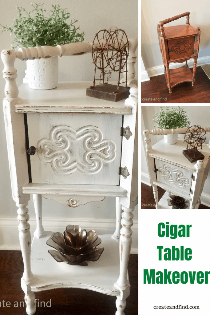 cigar table makeover - after pictures