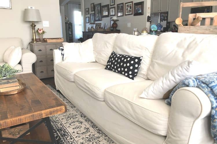 pottery barn versus IKEA couch