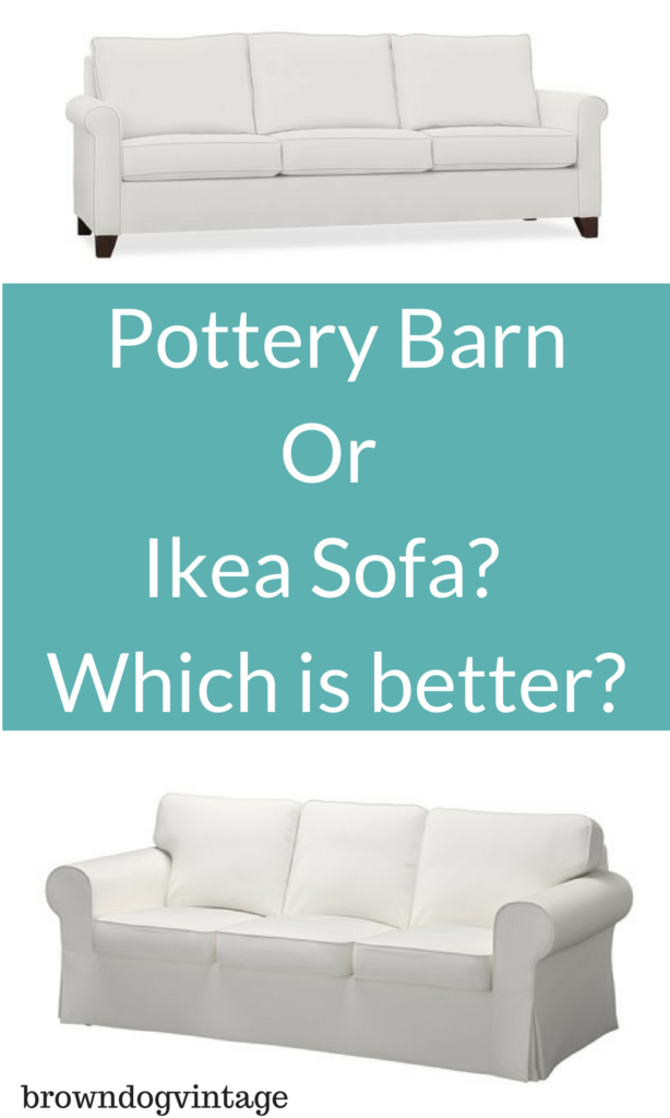 Pottery Barn And Ikea Couch Comparison