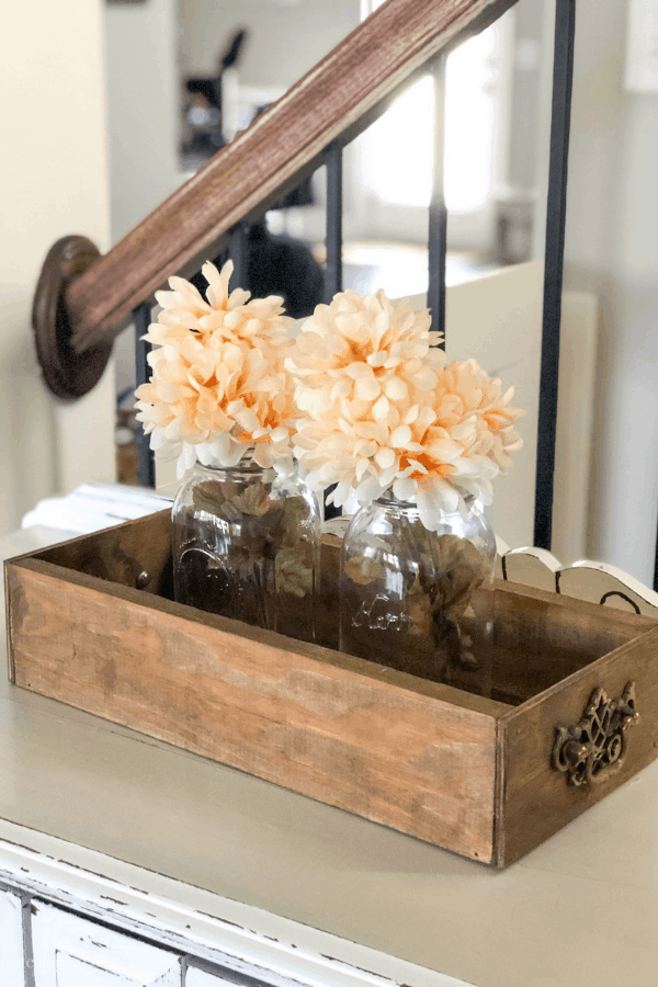 A simple DIY Project for beginners - make this farmhouse style crate using scrap wood and supplies