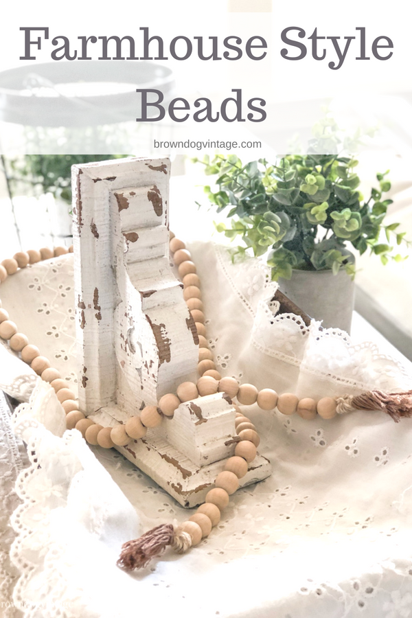 DIY farmhouse style bead garland you can make for around $8
