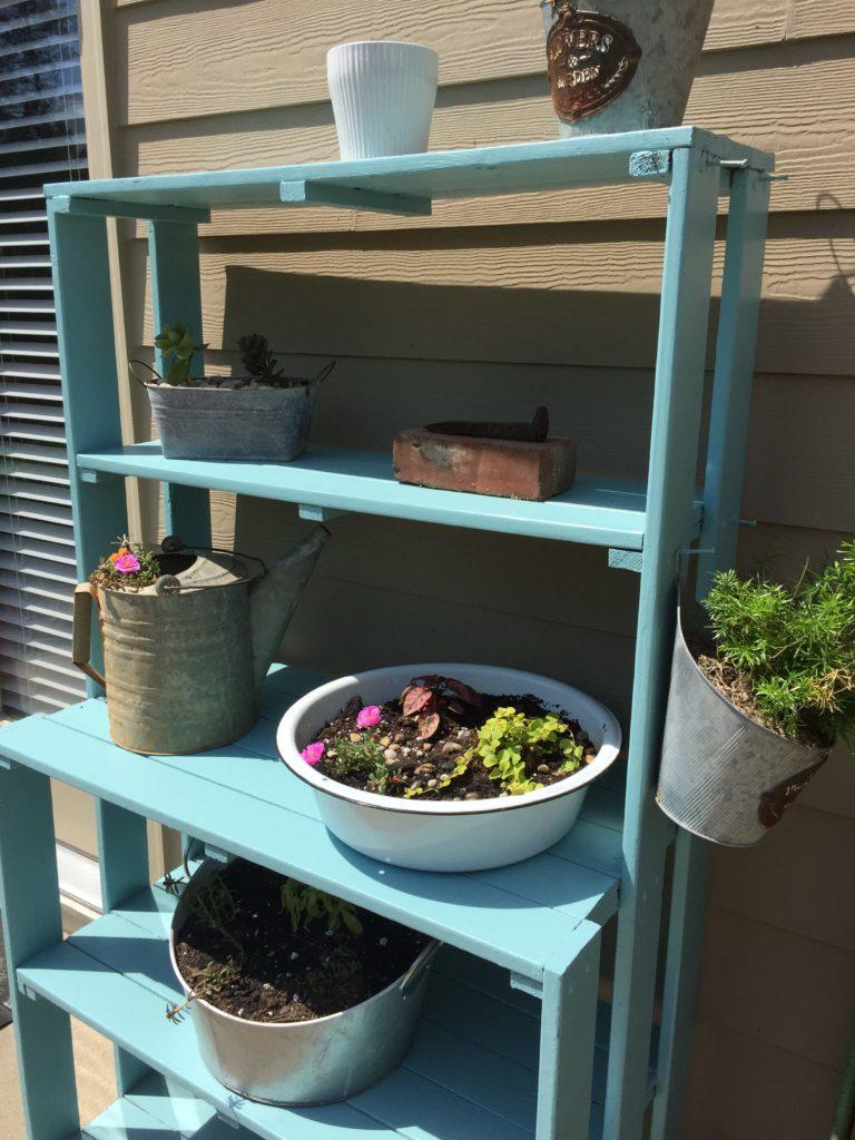plant shelf makeover using citristrip