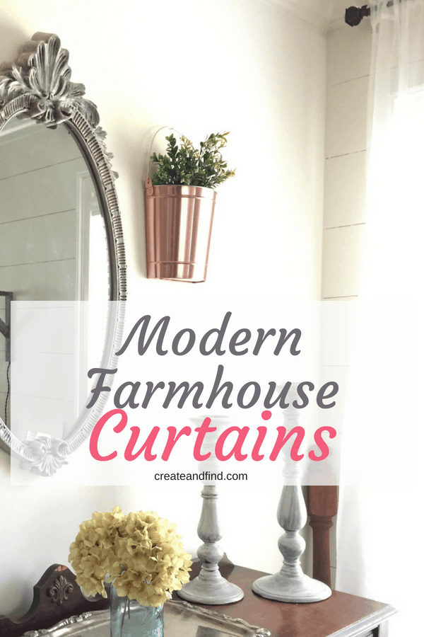 Modern Farmhouse Style Curtains on a Budget