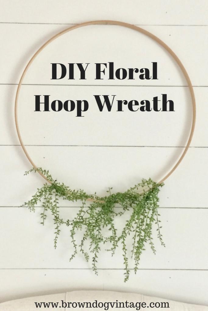 DIY Embroidery floral hoop wreath