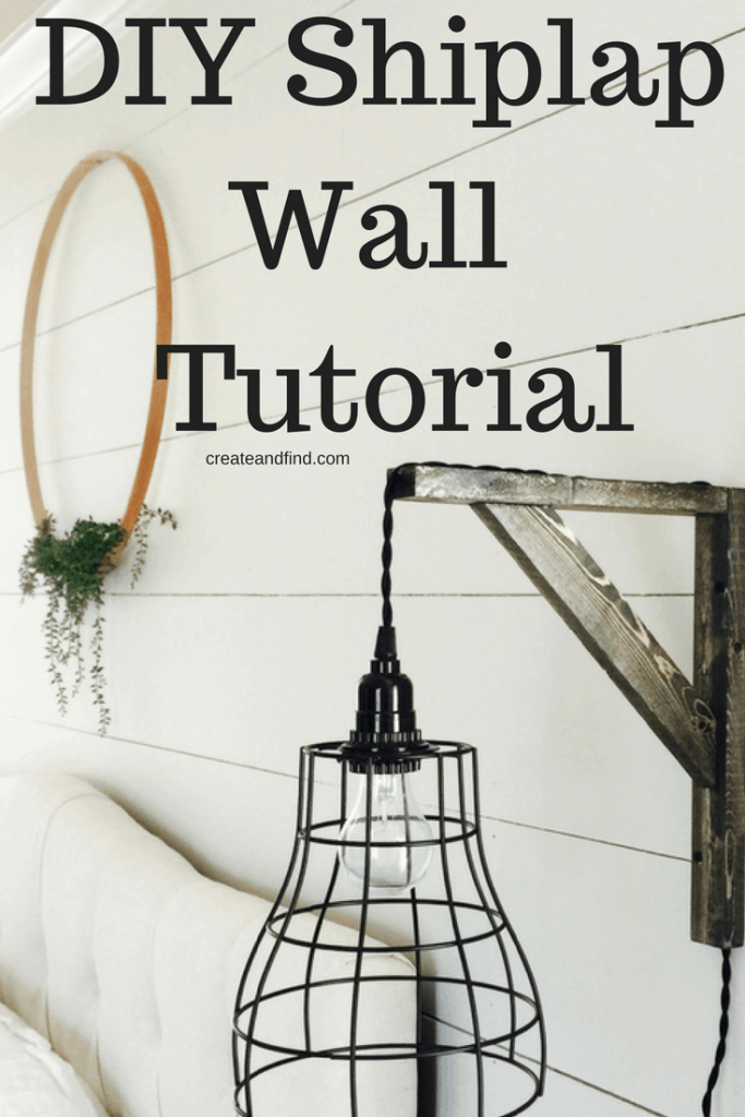 DIY Shiplap Wall Tutorial - what to buy and how to install shiplap to add farmhouse style to your home.