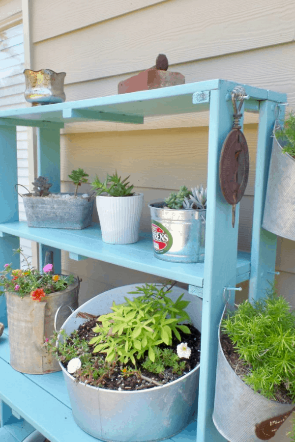 Plant shelf makeover