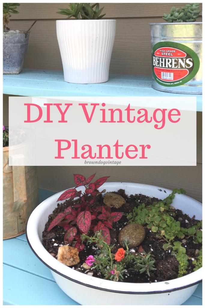 diy vintage planter