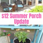 $12 summer porch refresh