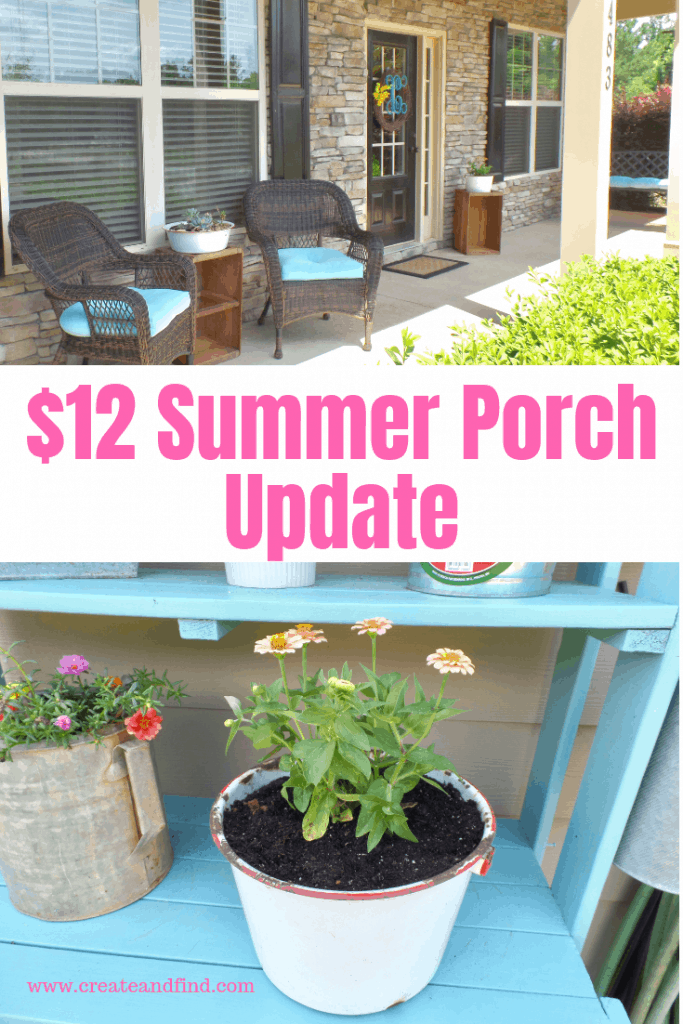 $12 summer porch refresh
