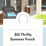 summer porch update