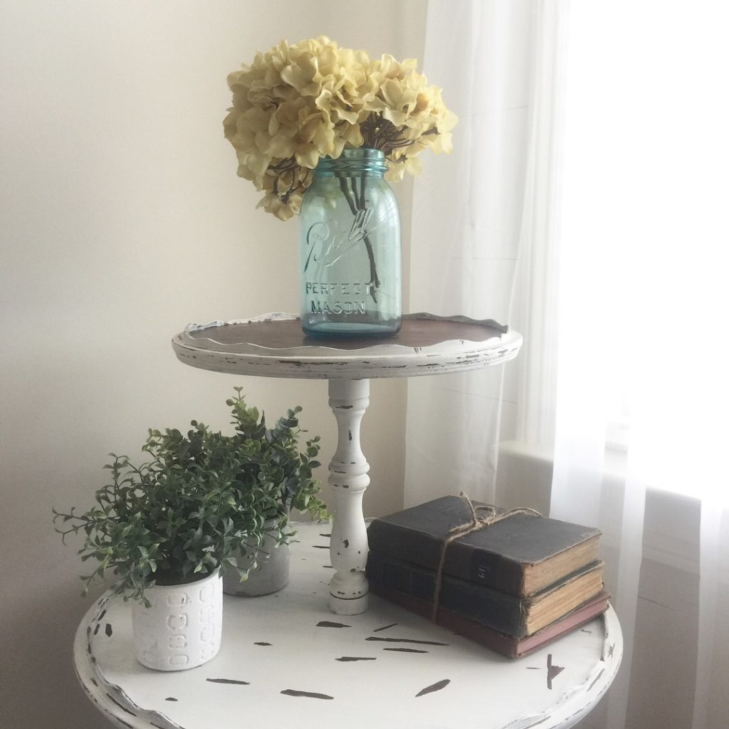 Vintage table makeover with milk paint
