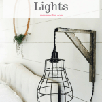 DIY Pendant Lights - I'll show you how to make your own farmhouse style lights for cheap! #createandfind #diylighting #diyprojects #farmhousestyle