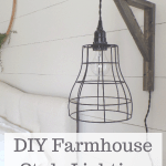 DIY farmhouse lighting for cheap! I'll show you how to make two farmhouse style pendant lights for around $40! #createandfind #diylighting #lights #farmhousestyle