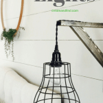 DIY Industrial Pendant Lighting - A DIY project to make your own farmhouse style lights for around $40 for the pair! #createandfind #diylights #farmhouselighting #industriallighting #diyprojects #lighting #lights