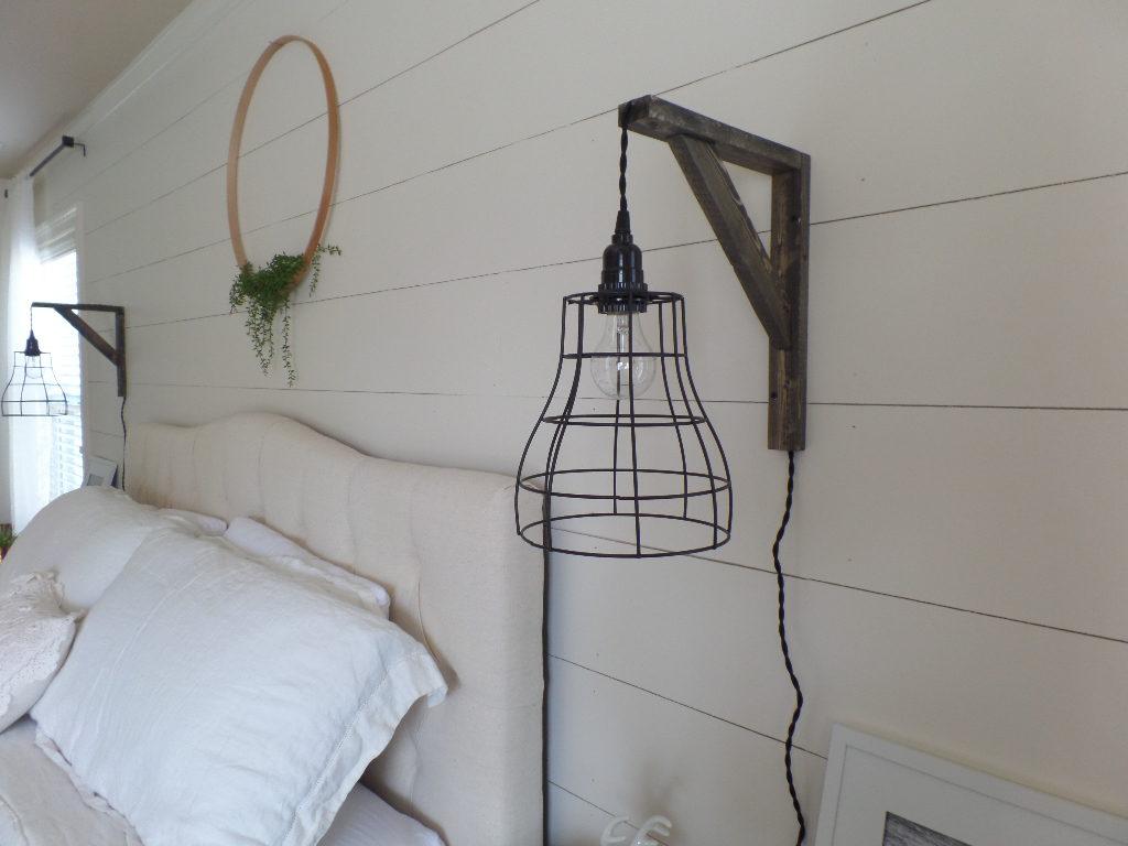 master bedroom update diy lights