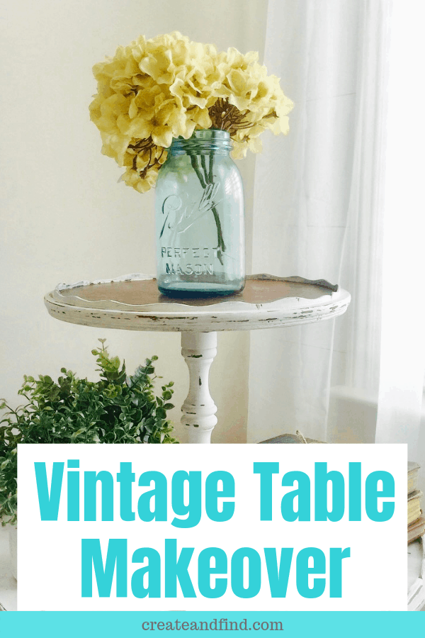Vintage table makeover with milk paint #createandfind #diyprojects #milkpaint