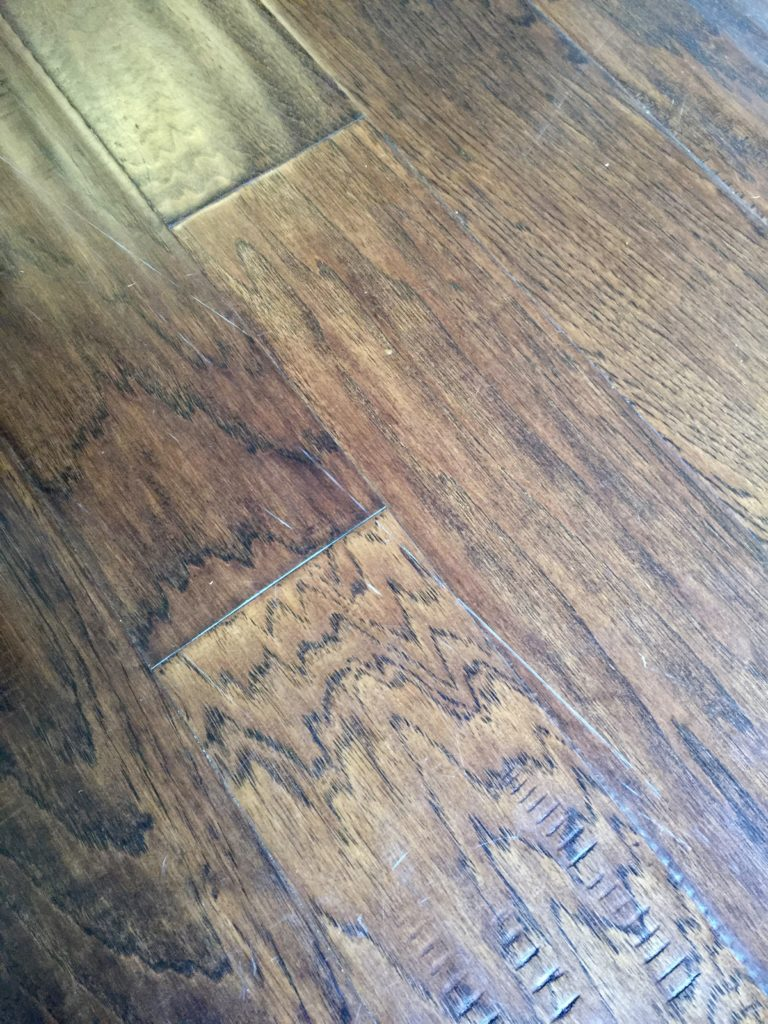 DIY fix for scratches on wood floors