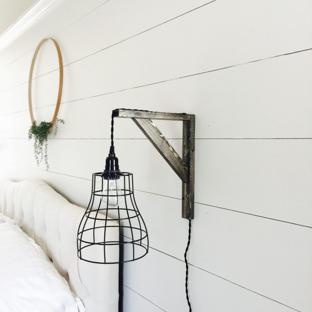 Make your own farmhouse industrial pendant lights and brackets