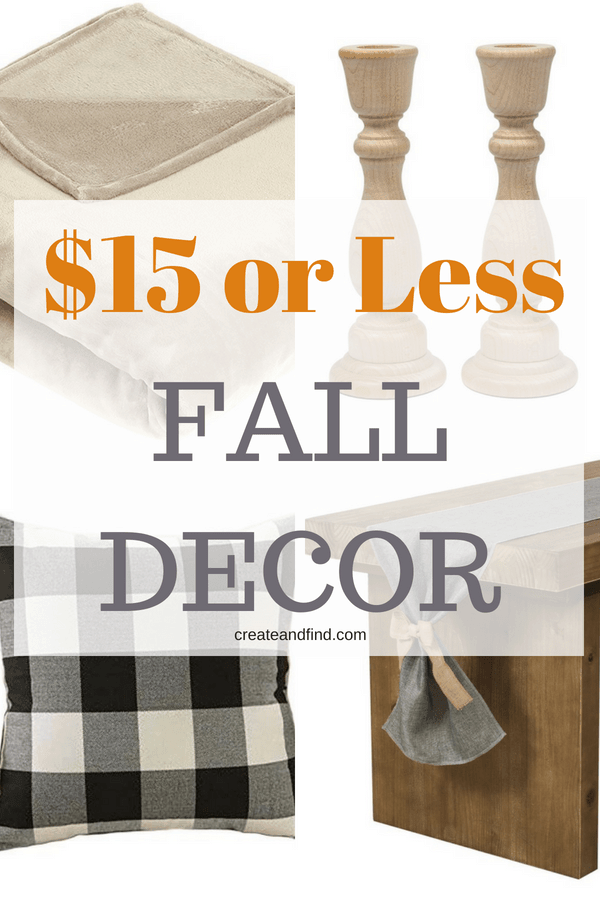 Fall decor for $15 or less! Add some new fun fall style for cheap! #falldecor #cheapfalldecor #falldecorating