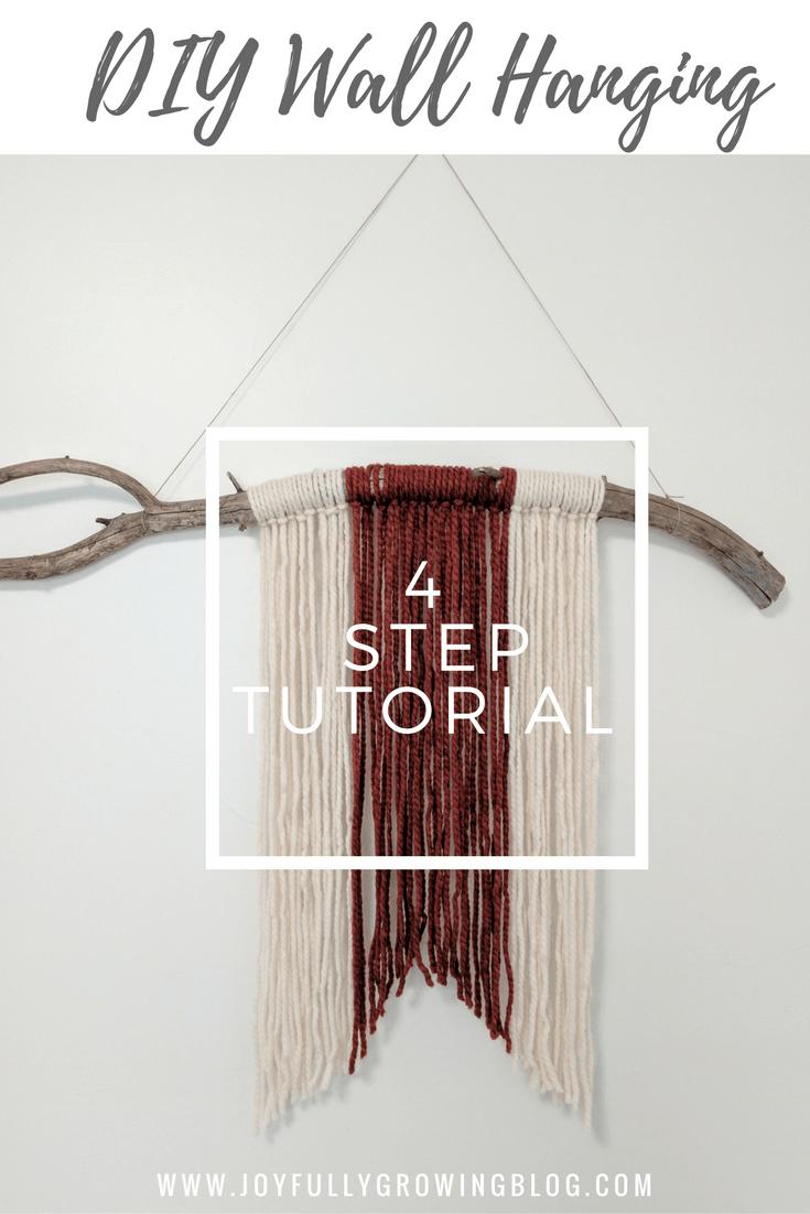 DIY wall hanging in 4 easy steps