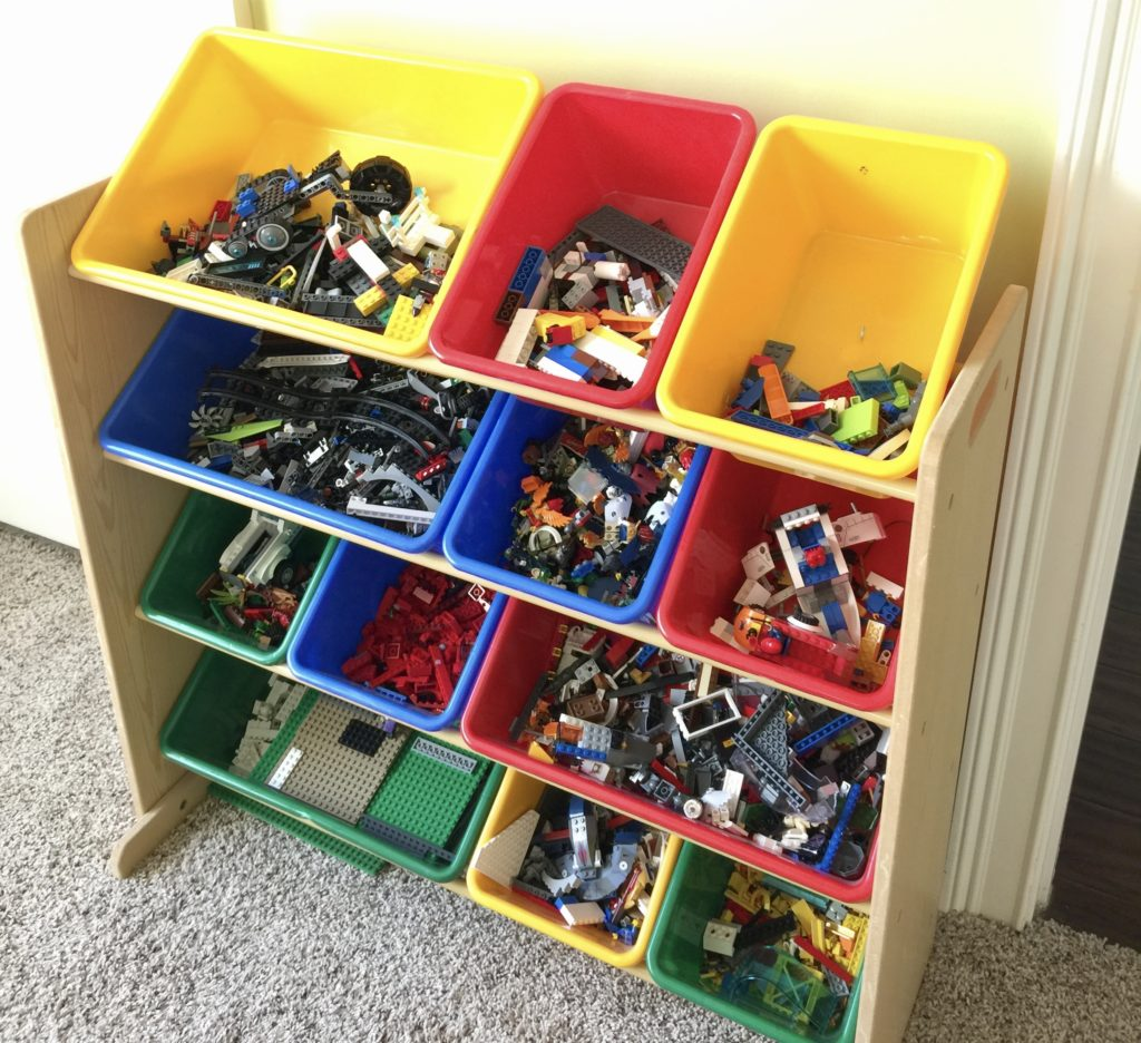 Toy storage organizer for loose legos