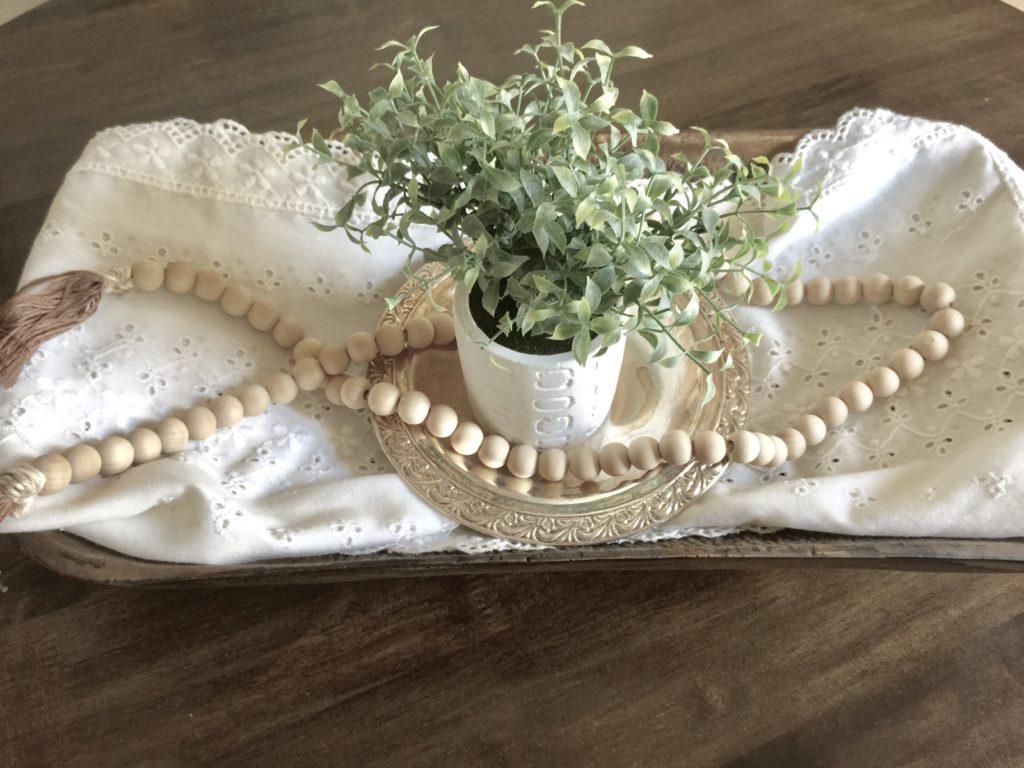 DIY wooden bead garland for $8