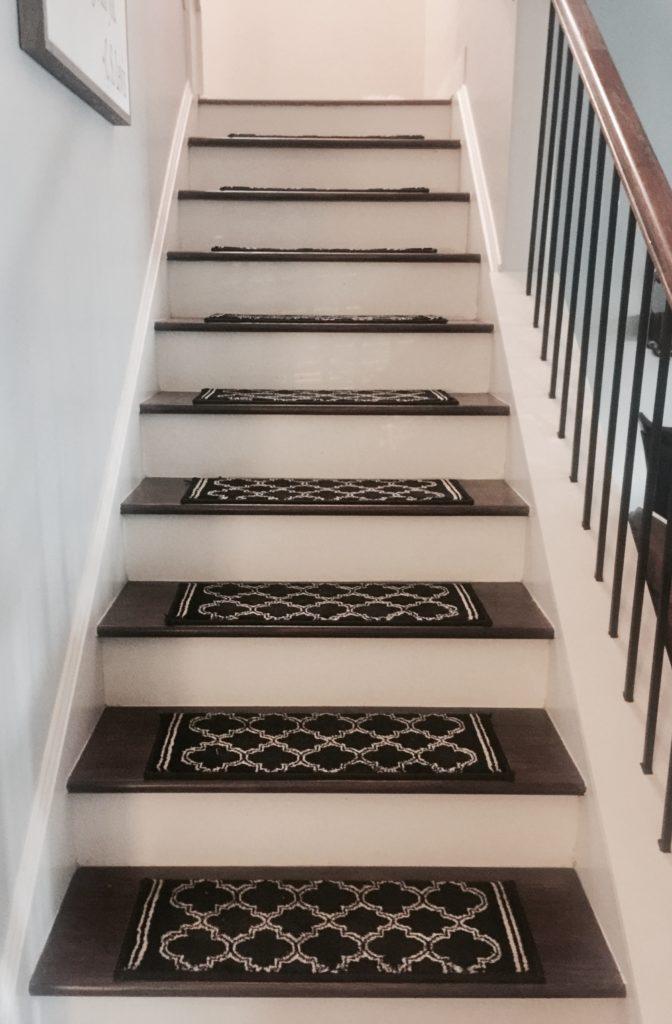 DIY stair tread runners