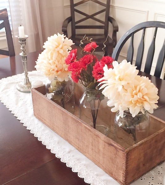 DIY fall centerpiece with dollar store supplies