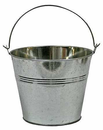 Kitchen metal bucket decor for $15 or less