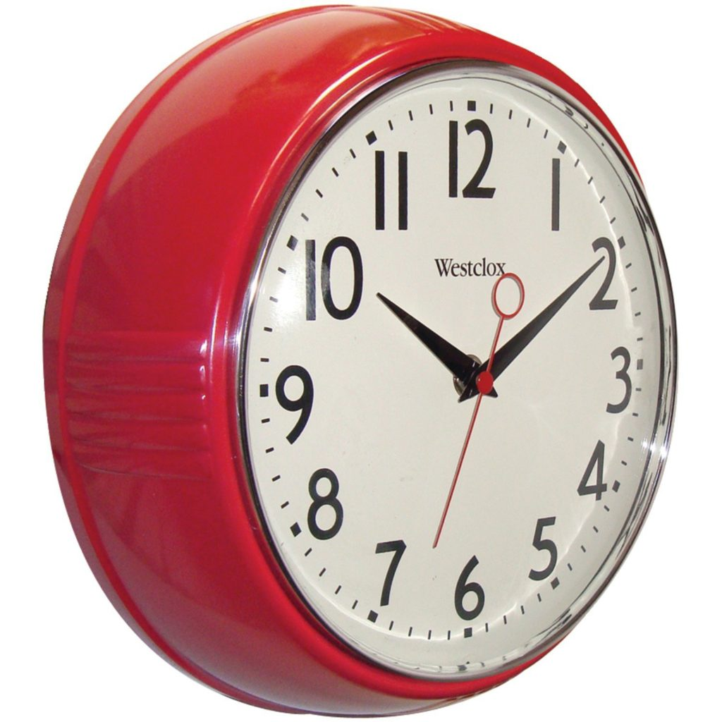 clock affordable kitchen decor for $15 or less