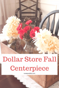 Dollar Store Fall Wreath and Centerpiece