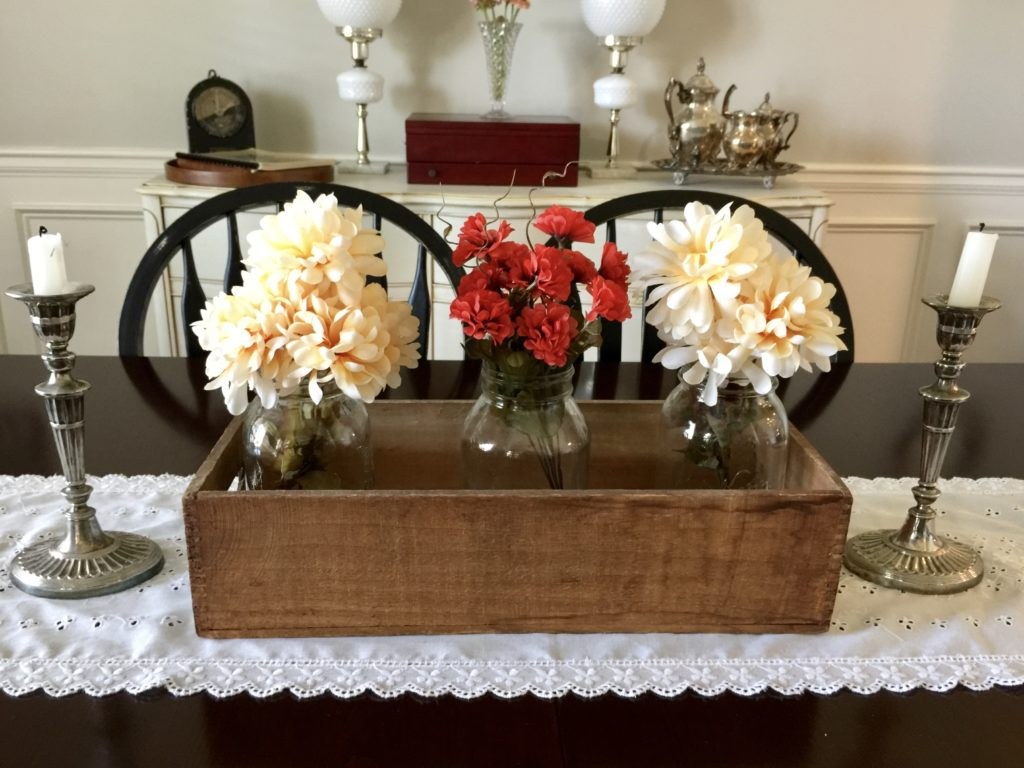 DIY fall centerpiece floral with dollar store supplies