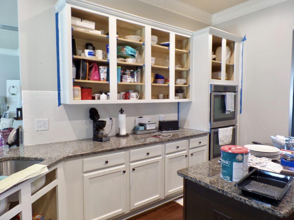 kitchen cabinet makeover progress