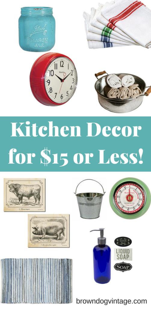 kitchen decor for $15 or less