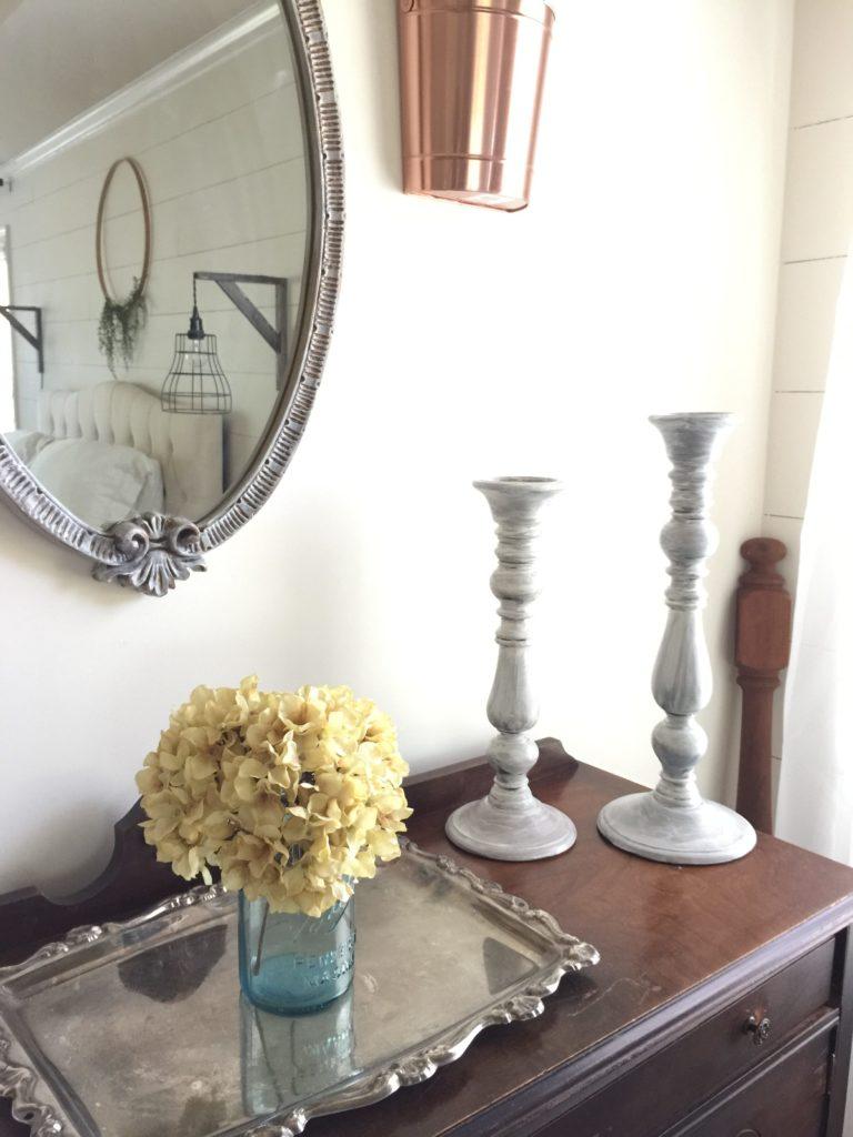 farmhouse style decor candlesticks