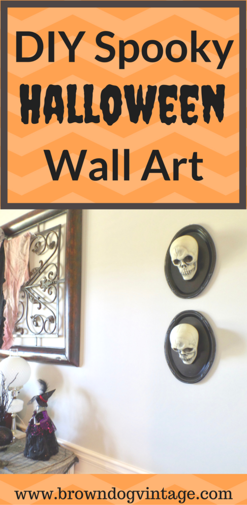 dollar store halloween diy spooky wall art