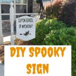 DIY Spooky Halloween Yard Art - Make your own sign using vinyl graphics