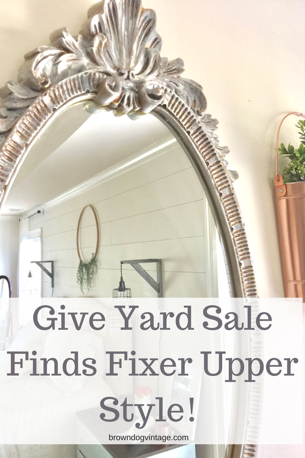 Give your yard sale finds some fixer upper farmhouse style!