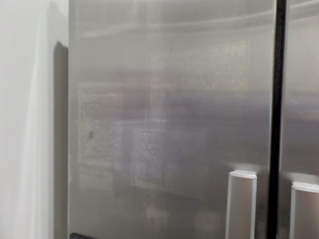 how to get streaks off stainless steel fridge