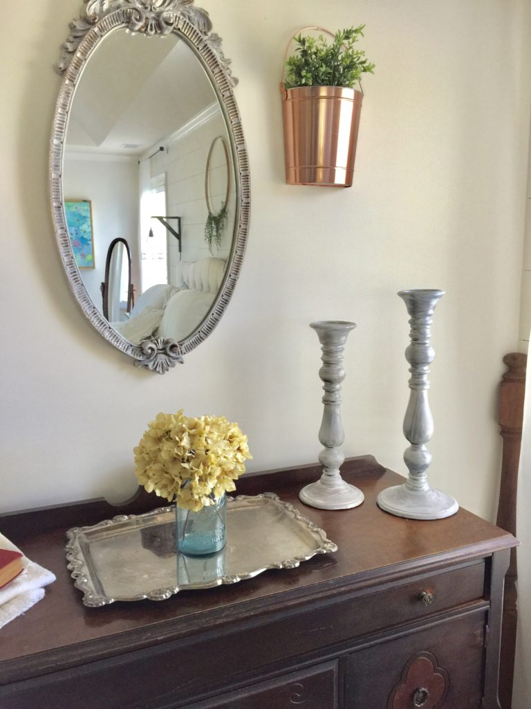 farmhouse style decor with yard sale finds