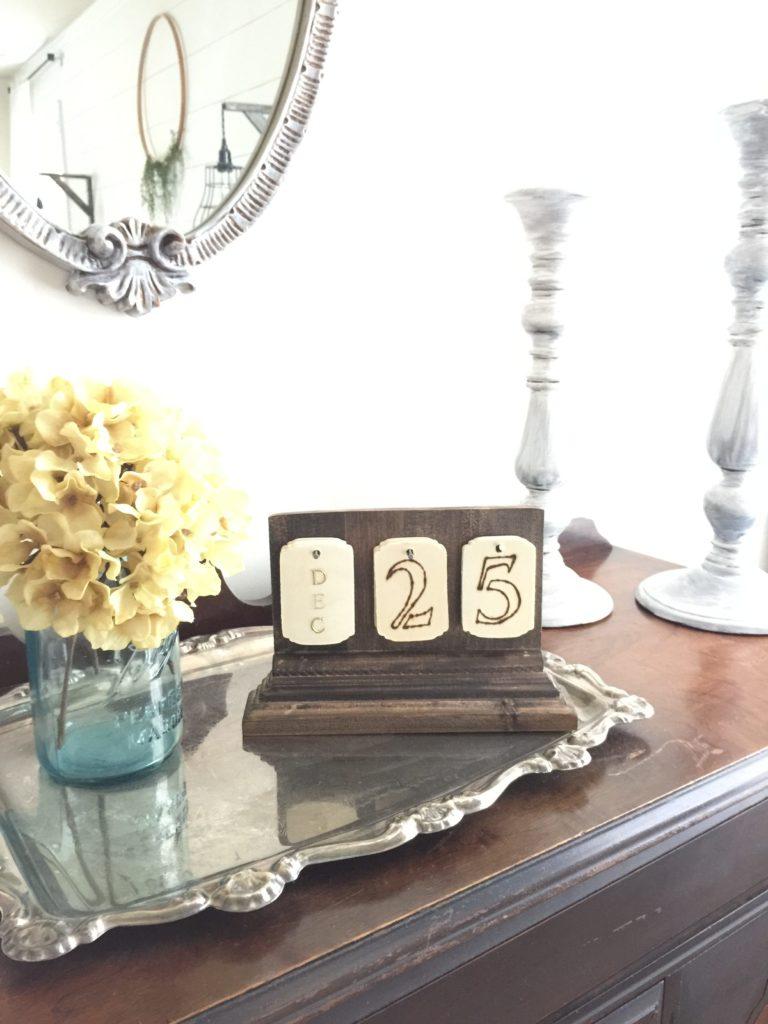 DIY Calendar vintage style
