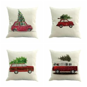 Vintage inspired truck and car pillows