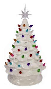 vintage inspired ceramic white christmas tree