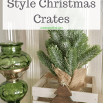 DIY rustic crates for Christmas. Make some DIY farmhouse style decor this season with this easy DIY project #createandfind #christmas #christmasdecor #diychristmasdecor #farmhousestyle #rusticcrates