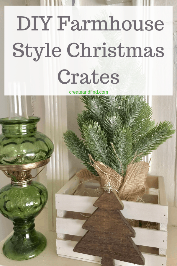 DIY rustic crates for Christmas. Make some DIY farmhouse style decor this season with this easy DIY project #christmas #christmasdecor #diychristmasdecor #farmhousestyle #rusticcrates