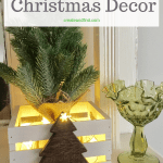 DIY Farmhouse style Christmas decor - rustic crates that are a simple DIY project to add some farmhouse style to your home this season #createandfind #diychristmasdecor #christmas #DIYdecor #farmhousestyle