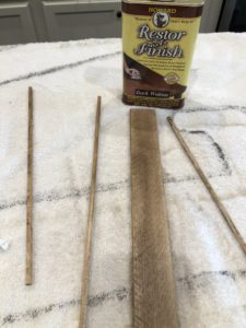 DIY Rustic tree with shims and dowels