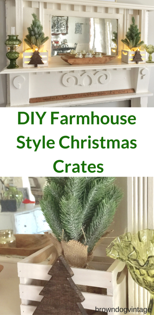 diy farmhouse style christmas decor an easy diy project to add some rustic christmas decor